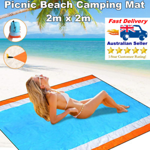 Beach Mat Sand Free Large Picnic Camping Rug Blanket Toy Play Mat Waterproof