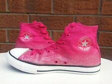 CONVERSE ALL STAR CHUCK TAYLOR WOMENS UK SIZE 4.5 PINK GLITTER HIGH TOP TRAINERS