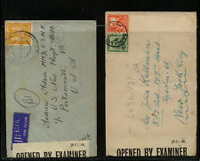 New  Zealand  2 censor covers    #s 5  and  53          KL0205