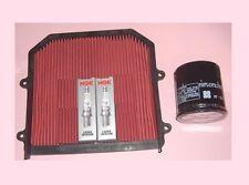 Service kit- Plugs Air & Oil filter for HONDA XL XL1000 XL1000V Varadero 2003-12