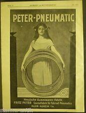 Pneumatic,Spezialfabrik f.Fahrrad Reifen,F.Peter,Klein Auheim,orig.Anzeige 1922