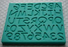 Alphabet Set Majuscule Chiffres Moule Silicone Sugarcraft Décoration Gâteau 3500
