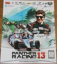"2013 Jr Hildebrand Panther Racing ""1st issued"" Chevy Dallara Indy Car postcard"