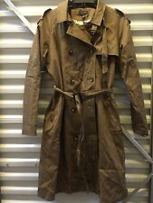 Topshop Trench Coat Olive Army Green Size 12 US - 16UK-  EUC