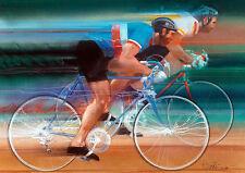 Bicycling Visions of Gold Print - Los Angeles 1984 Olympics  Robert Bob Peak