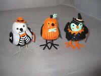 NWT Hyde and Eek Owl Witch Fabric Bird Target Halloween Orange Brown Owl Felt