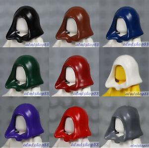 LEGO - 9x Hood Combo Black Green Blue Red Minifigure Jedi Dementor Star Wars