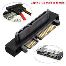 90 degrés Angle SATA 22 broches (7 + 15) mâle vers femelle Extension Adaptateur convertisseur