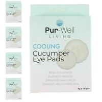Pur-Well Living Pur Cooling Eye Pads Cucumber (5 Boxes) Pre-Moistened