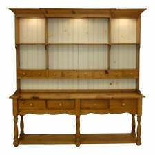 11031-401: Country Farmhouse Pine Sideboard With Hutch