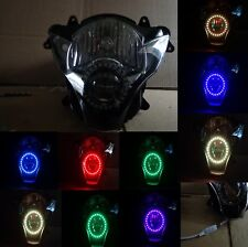 SUZUKI GSXR 600 750 2006-2007 K6 Custom Headlight assembly W/Multi color remote
