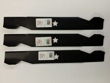 """3 PACK ROTARY PART # 6196 BLADES 17-3/8"""" 5 POINT STAR REPLACES AYP/ROPER/SEARS"""