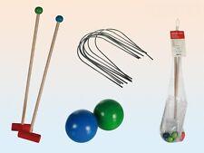 Krocket GIOCO SET COMPLETO 12 pezzi giardino gioco mazza sfere in legno NUOVO