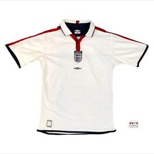 England 2003/05 International Home Soccer Jersey Boys XL Umbro