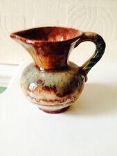 Vintage 1930s Germany Pottery Drip glaze Vase 328 / 8 lovely condition