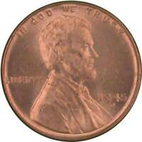1945 D Lincoln Wheat Cent BU Uncirculated Mint State Bronze Penny 1c Coin