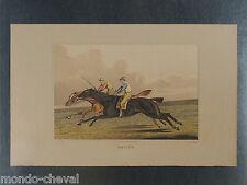 LITHO ANCIENNE ORIGINALE, Henry Alken, chevaux, course hippique, horse racing