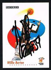 Willie Burton #144 signed auto autograph 1991-92 SkyBox Basketball Trading Card