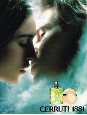 PUBLICITE ADVERTISING 045  2000  CERRUTTI  1881  parfum Home & Femme