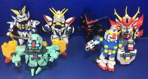 Bandai 2003 Gundam Force SD Superior Defender Action Figure LOT Of 6