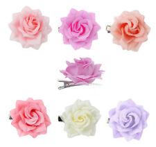 Ella Jonte Pince à Cheveux Rose Fleur Épingle Plusieurs Couleurs Pastel Blanc