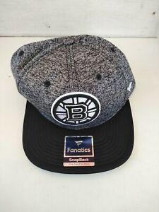 New Boston Bruins NHL Hockey Fanatics Adjustable Cap Hat Authentic Snapback