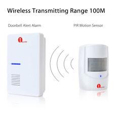 100M Wireless Door Chime Enrty Bell Infrared Motion Sensor Detector Alert System