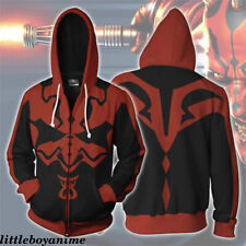 Star Wars Darth Maul Casual Sweatshirt Print Sweater Zip Hoodie Boys Jacket Coat