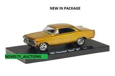 M98 11228 06 M2 MACHINES AUTO DRIVERS 1967 CHEVROLET NOVA SS GOLD CHEVY  1:64