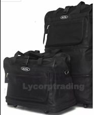 "36"" Black Rolling Wheeled Duffle Duffel Bag Spinner Suitcase Luggage Expandable"