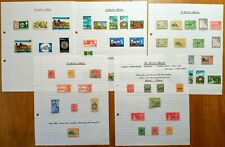 ST KITTS NEVIS ANGUILLA: 55 Stamps on Vintage Album Pages.