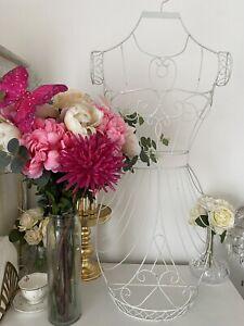 Decorative Cream Wire Half Mannequin