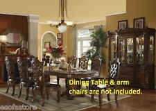 Traditional Luxury Formal Dining Chairs 6pc set Antique Framed back Side Chairs