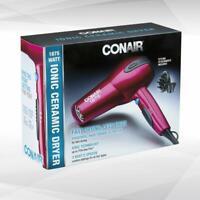 Conair 1875 Watt Ionic Ceramic Hair Dryer, Cranberry Pink