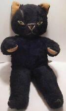 Old Plush & Felt Black Halloween Cat Knickerbocker Kitty Kuddles Stuffed Toy