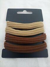 Blister con 4 elastici in tessuto beige/marrone