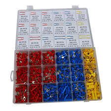 1200PCS Assorted Electrical Wiring Connectors Crimp Terminals Set Kits Insulated