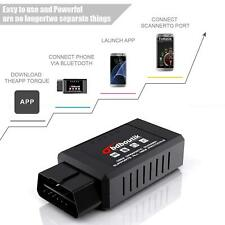 ELM327 OBD2 Code Reader Check Engine Bluetooth Diagnostic Scanner Tool Android