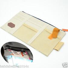 Car Beige Sun Visor Shield Board Organizer Storage Holder CD Case tissue boxes