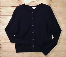 GAP Designed & Crafted L Cotton Blend Cardigan Button Down Sweater Navy Blue