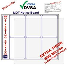 MOT SIGNS | MOT SIGN | OFFICIAL FULL MOT NOTICE BOARD | VOSA | DVSA APPROVED