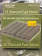 2 x 12 (24) Solid Fuel Charcoal Handwarmer Refill Sticks Jack Pyke Hand Warmer