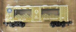 ✅AMERICAN FLYER BY LIONEL S GAUGE FORT KNOX GOLD BAR MINT CAR 6-48845!