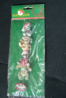 Kurt S Adler Santa's World Bear Collector Christmas ornament New Sealed