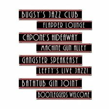 Pack of 4 Double sided Gangster Themed Street Signs - 1950's Party Decoration