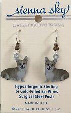 New Welsh Corgi Dangle Dog Earrings Sienna Sky Made in Usa