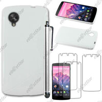 Housse Etui Coque Silicone S-line Blanc LG Nexus 5 E980 + Stylet + 3 Film écran