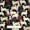 Animal Fabric - Pet Labrador Puppies on Black - Timeless Treasures YARD
