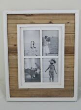 4 IN 1 Rustic Wooden Photo Frame Multi Picture collage 50CM