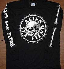 Long Sleeve T-Shirt - ALIEN SEX FIEND - Skull and bones - Size L - NEW TEE